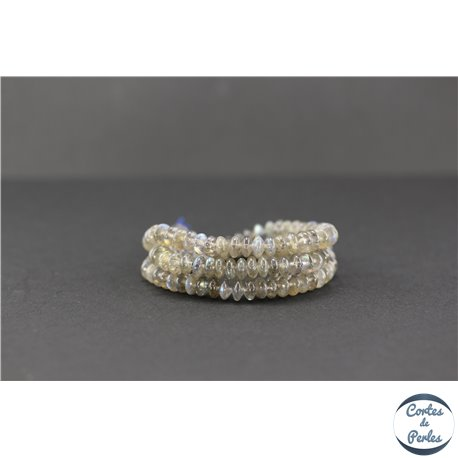 Perles semi précieuses en labradorite - Roue/6.5 mm - Gris smoke - Grade A