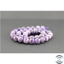 Perles semi précieuses en charoïte - Ronde/10 mm - Grade AB