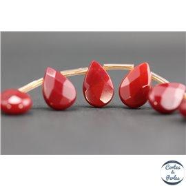 Perles de Bohème Facettées - Goutte/12 mm - Rose