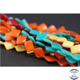 Perles en Nacre - Carrées/14 mm - Multicolore