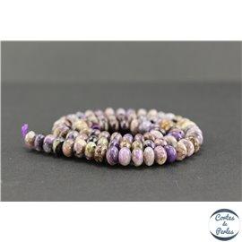 Perles semi précieuses en charoïte - Roue/8 mm