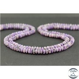 Perles semi précieuses en charoïte - Roue/6 mm