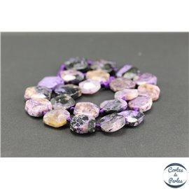 Perles semi précieuses en charoïte - Pépite/11-15 mm