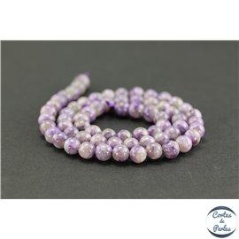 Perles semi précieuses en charoïte - Ronde/6 mm - Light violet