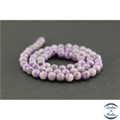 Fabuleux Grossiste perles semi précieuses en charoïte ronde 6 mm light pas cher OA86