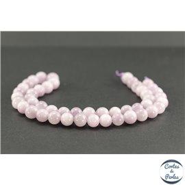 Perles en kunzite - Rondes/8mm - Grade AB