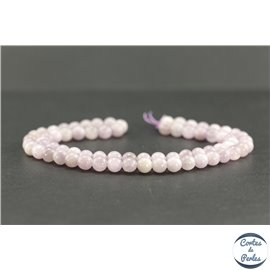 Perles semi précieuses en kunzite - Ronde/6 mm - Grade AB