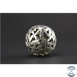 Apprêts american finding boules vernies - Rondes/24 mm - Argenté