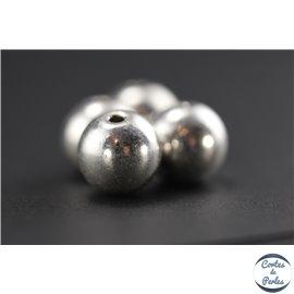 Apprêts american finding boules vernies - Rondes/10 mm - Argenté