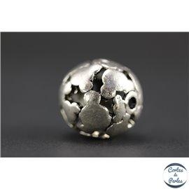 Apprêts american finding boules vernies - Rondes/17,5 mm - Argenté