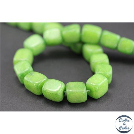 Perles semi précieuses en australian agate - Nuggets/13 mm - Vert