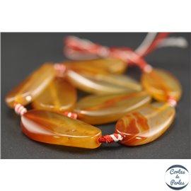 Perles semi précieuses en agate cornaline - Ovales/40 mm