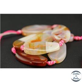 Perles semi précieuses en agate cornaline - Ovales/38 mm