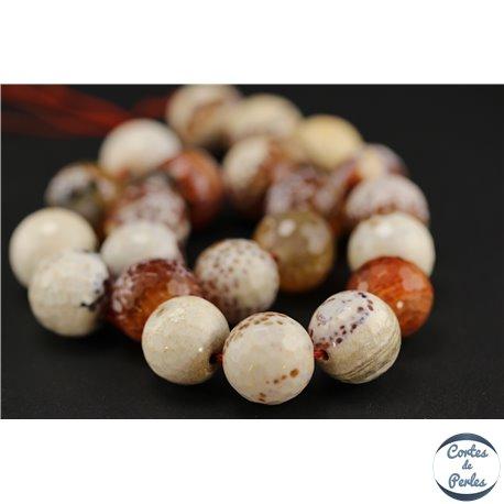 Perles semi précieuses en agate - Rondes/16 mm - Orange