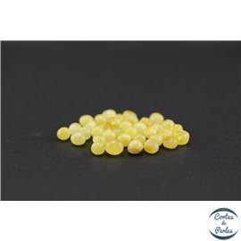 Perles en ambre de la Baltique - Baroque/6 mm - Laiteuse