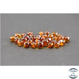 Perles en ambre de la Baltique - Baroque/7 mm - Cognac