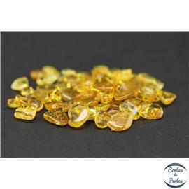 Perles en ambre de la Baltique - Chips/5-10 mm - Citron