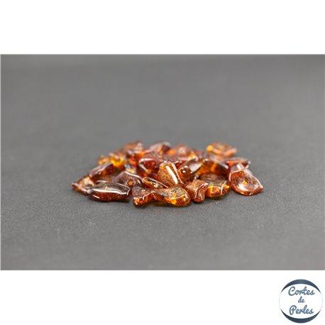 Perles en ambre de la Baltique - Chips/5-10 mm - Cognac
