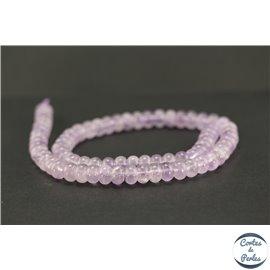 Perles semi précieuses en améthyste - Roue/8 mm - Violet light