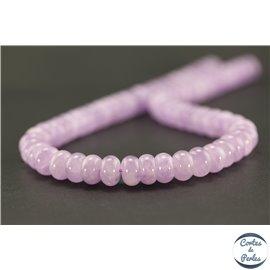 Perles semi précieuses en améthyste - Roue/10 mm - Light violet