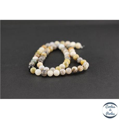 grossiste perles en agate feuille de bambou ronde 6 mm pas cher. Black Bedroom Furniture Sets. Home Design Ideas
