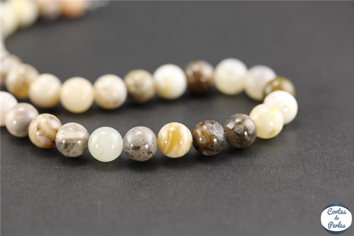 grossiste perles en agate feuille de bambou ronde 8 mm pas cher. Black Bedroom Furniture Sets. Home Design Ideas