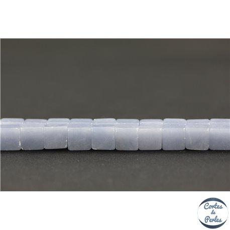 Perles semi précieuses en angélite - Carré/8 mm
