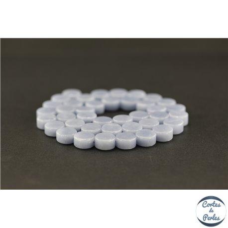 Perles semi précieuses en angélite - Disque/10 mm