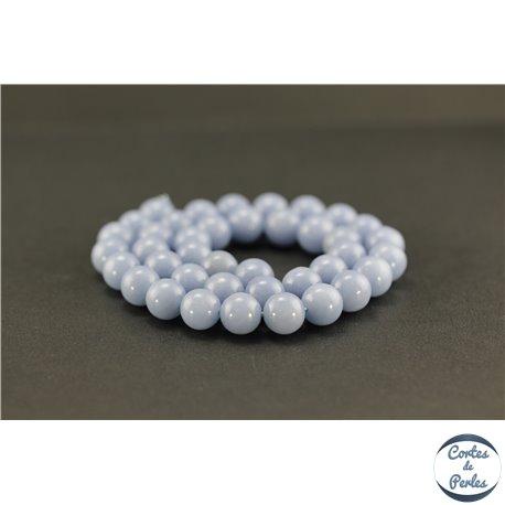 Perles semi précieuses en angélite - Ronde/10 mm
