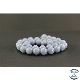 Perles semi précieuses en angélite - Ronde/12 mm