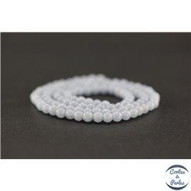 Perles semi précieuses en angélite - Ronde/4 mm