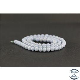 Perles semi précieuses en angélite - Ronde/6 mm