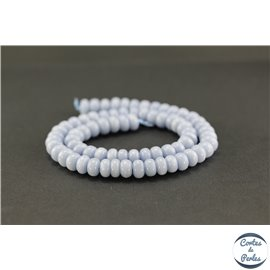 Perles semi précieuses en angélite - Roues/8mm