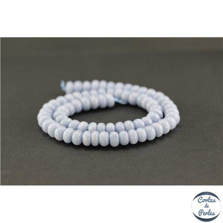 Perles semi précieuses en angélite - Roue/8 mm