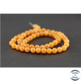 Perles en aventurine orange - Rondes/6mm