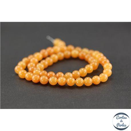 Perles semi précieuses en aventurine orange - Ronde/6 mm