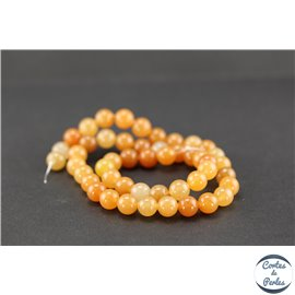Perles en aventurine orange - Rondes/8mm