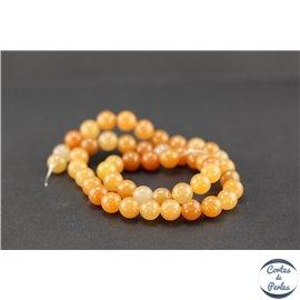 Perles semi précieuses en aventurine orange - Ronde/8 mm