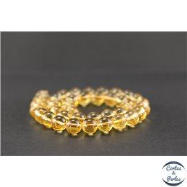 Perles en citrine - Rondes/10mm - Grade A