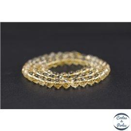 Perles semi précieuses en citrine - Ronde/6 mm - Grade A