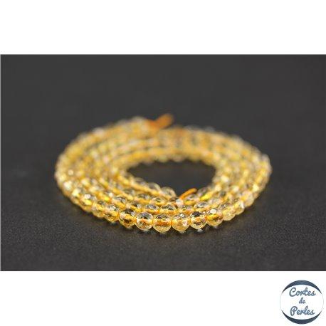Perles semi précieuses en citrine - Ronde/4 mm