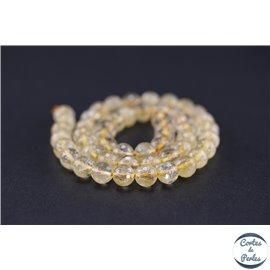 Perles semi précieuses en citrine - Ronde/8 mm