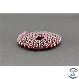 Perles en grenat - Rondes/6mm - Grade A