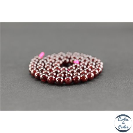 Perles semi précieuses en grenat - Ronde/6 mm - Grade A