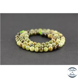 Perles semi précieuses en grenat vert - Ronde/6 mm