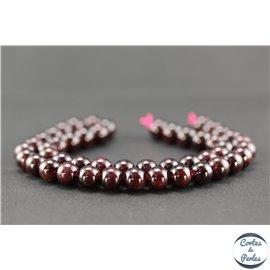 Perles semi précieuses en grenat - Ronde/8 mm - Grade A
