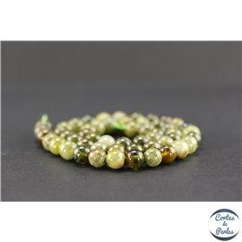 Perles semi précieuses en grenat vert - Ronde/8 mm