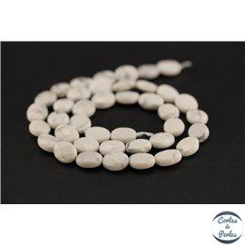 Perles semi précieuses en howlite - Ovale/10 mm