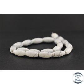 Perles en howlite - Ovales/10mm