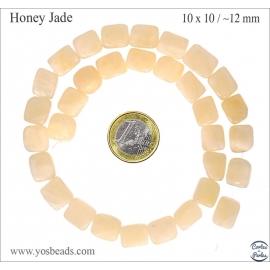 Perles semi précieuses en honey jade - Nuggets/10 mm